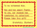 Letter Blathers Museum Complete WW.png