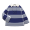 Thick-Stripes Shirt (Navy & Gray) NH Icon.png