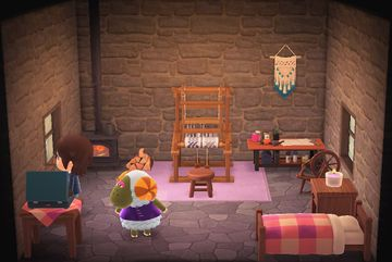 Interior of Cashmere's house in Animal Crossing: New Horizons