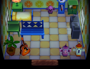 Interior of Eloise's house in Animal Crossing