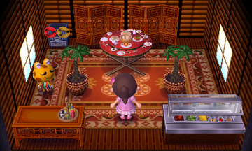 Interior of Cousteau's house in Animal Crossing: New Leaf