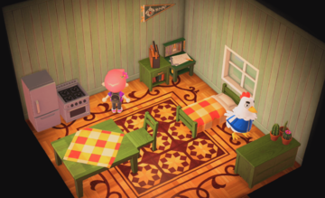 Interior of Goose's house in Animal Crossing: New Horizons