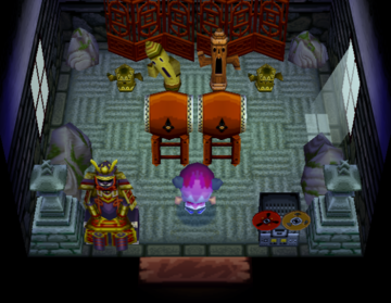 Interior of Limberg's house in Animal Crossing