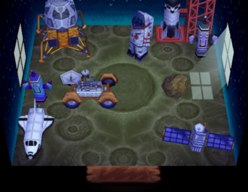 Interior of Ribbot's house in Animal Crossing