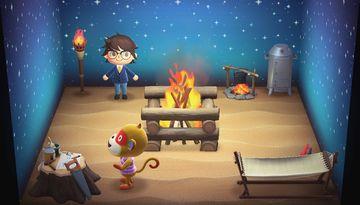 Interior of Simon's house in Animal Crossing: New Horizons