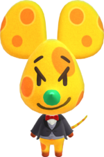 Chadder, an Animal Crossing villager.