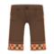 Cuffed Pants (Brown) NH Icon.png