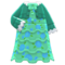 Frilly Dress (Green) NH Icon.png
