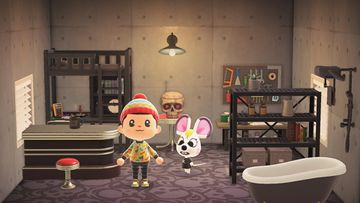 Interior of Bella's house in Animal Crossing: New Horizons