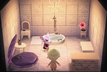 Interior of Diana's house in Animal Crossing: New Horizons