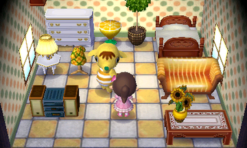 Interior of Eloise's house in Animal Crossing: New Leaf