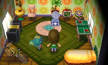 Interior of Nibbles's house in Animal Crossing: New Leaf