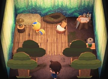 Interior of Ricky's house in Animal Crossing: New Horizons