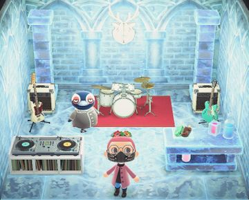 Interior of Tex's house in Animal Crossing: New Horizons