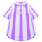 Vertical-Stripes Shirt (Purple) NH Icon.png