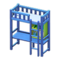 Loft Bed with Desk (Blue - Light Blue) NH Icon.png