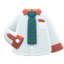 Work Shirt (Green-Striped Necktie) NH Icon.png