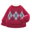 Argyle Sweater (Red) NH Icon.png