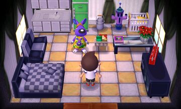 Interior of Sylvia's house in Animal Crossing: New Leaf