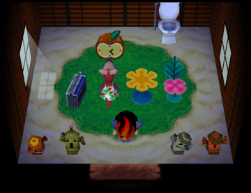 Interior of Marcy's house in Animal Crossing