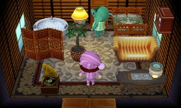 Interior of Opal's house in Animal Crossing: New Leaf