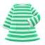 Striped Dress (Green) NH Icon.png