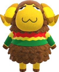 Curlos, an Animal Crossing villager.