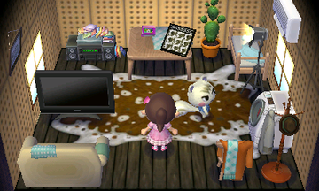 Interior of Marshal's house in Animal Crossing: New Leaf