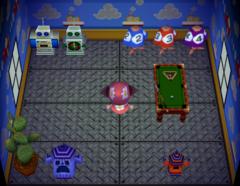 Woolio's house interior