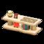Log Decorative Shelves (White Wood - Bears)