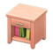 Wooden End Table (Pink Wood) NH Icon.png