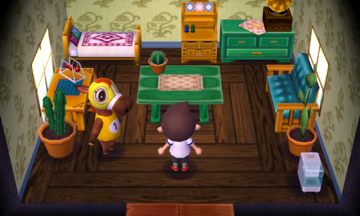Interior of Victoria's house in Animal Crossing: New Leaf