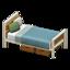 Ironwood Bed (Oak - Blue-Gray)