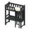 Loft Bed with Desk (Black - White) NH Icon.png