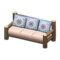 Log Extra-Long Sofa (Dark Wood - Quilted) NH Icon.png
