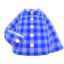 Gingham Picnic Shirt (Blue) NH Icon.png