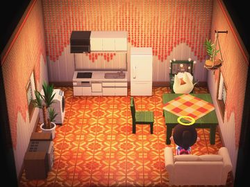 Interior of Merry's house in Animal Crossing: New Horizons