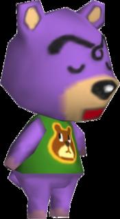 Dozer, an Animal Crossing villager.
