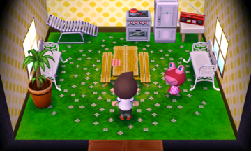 Interior of Puddles's house in Animal Crossing: New Leaf
