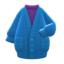 Long Chenille Cardigan (Blue) NH Icon.png