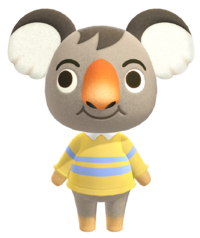 Ozzie, an Animal Crossing villager.