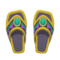 Beaded Sandals (Yellow) NH Icon.png