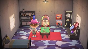 Interior of Moose's house in Animal Crossing: New Horizons