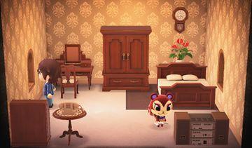 Interior of Pecan's house in Animal Crossing: New Horizons