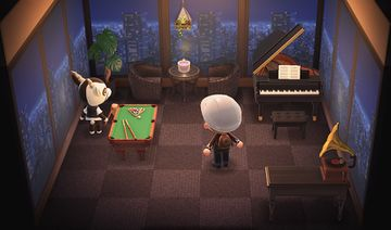 Interior of Zell's house in Animal Crossing: New Horizons