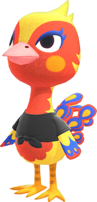 Phoebe, an Animal Crossing villager.