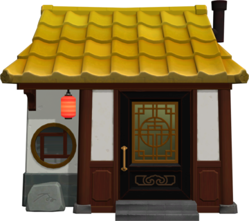 Exterior of Cousteau's house in Animal Crossing: New Horizons