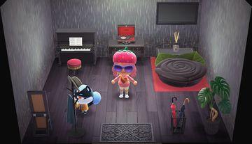 Interior of Tasha's house in Animal Crossing: New Horizons
