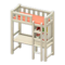 Loft Bed with Desk (White - Orange) NH Icon.png