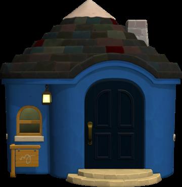 Exterior of Boris's house in Animal Crossing: New Horizons